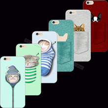 Strange Design Cute Cat Soft Silicon Cell Silicon Phone Cases For Apple iPhone 4 iPhone 4S iPhone4S Case Shell Cover 2017 Best(China)
