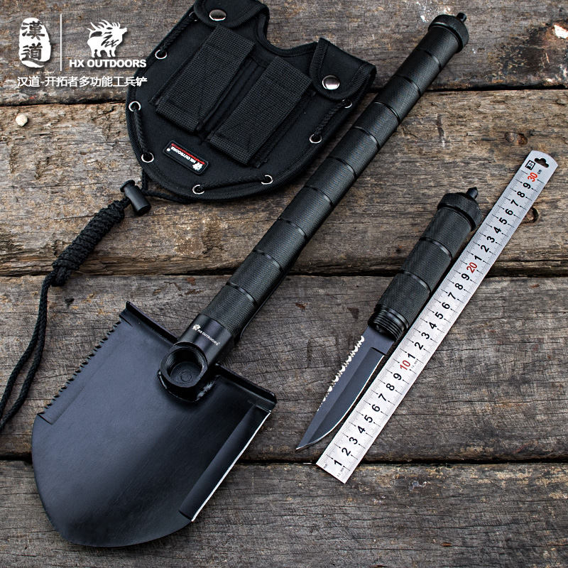 Multi-function Military Portable Folding Camping Shovel Survival Spade Trowel Dibble Pick Emergency Garden Outdoor Tool<br><br>Aliexpress