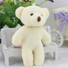 White Color 12pcs Wholesale Cheap Mini Lovely Teddy Bear Plush Toys Small Doll Bears For Wedding Flower Bouquet Promotion Gifts