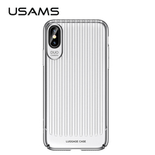 Case for iPhone X USAMS Trunk Series Mobile Phone Case for iPhoneX Ultra Silm Cover Full Protector Cases for iphone X(China)