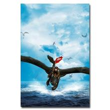 NICOLESHENTING How To Train Your Dragon 2 Movie Art Silk Poster 12x18 32x48 Hiccup Toothless Pictures Bedroom Living Room  012