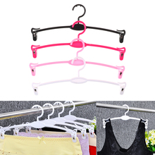 10pcs/Lot Kids Clothes Hangers Portable Arc Hook Design Outdoor Clothes Drying Rack for Children Women Men Plastic Bra Hangers(China)