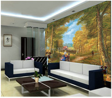 Free shipping custom large 3D wallpaper television sofa bedroom wall wallpaper style cartoon country fall