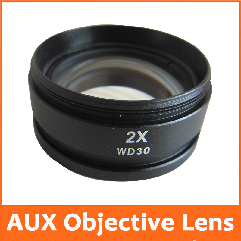 2X Auxiliary Attachment Objective Lens for Stereo Microscope Parts Accessories Fitting Components<br><br>Aliexpress