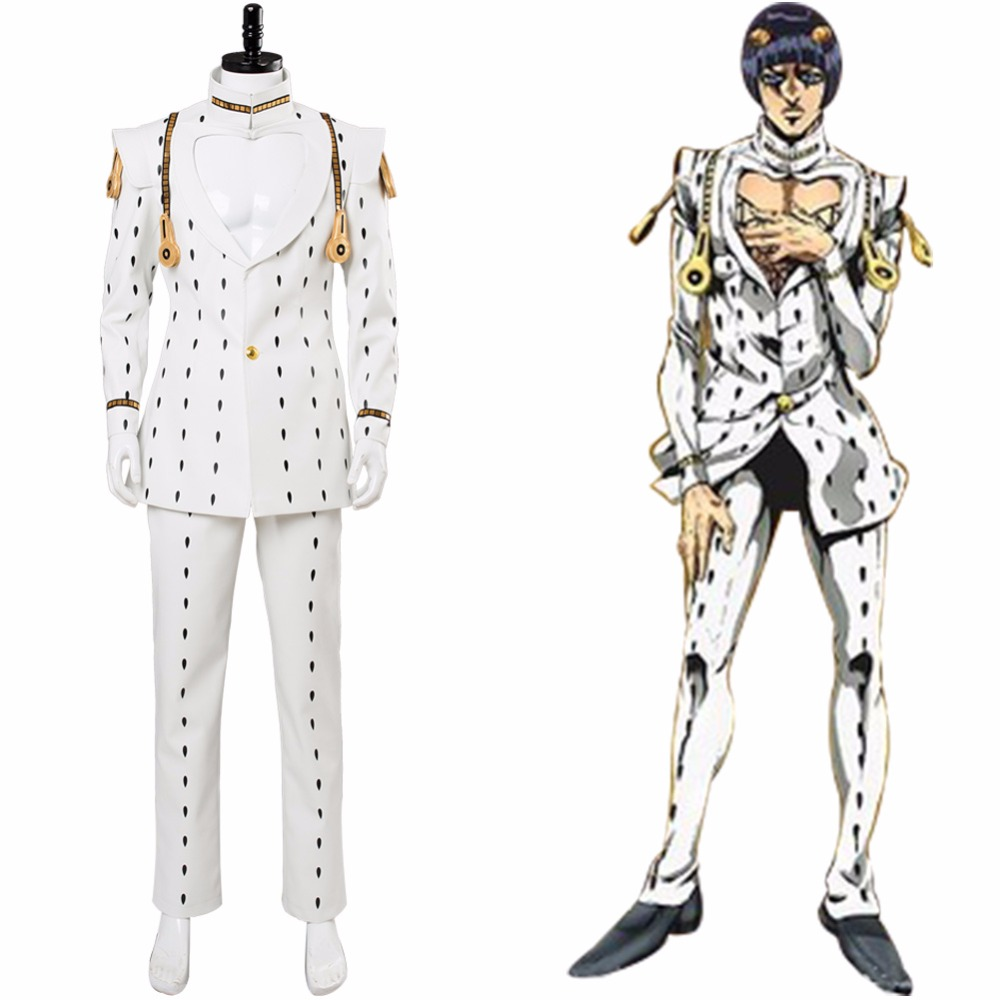 High Quality Cospaly JoJo's Bizarre Adventure Golden Wind Bruno Buccellati Cosplay Costume Men Bucciarati Suit Halloween Costume