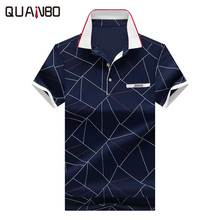 New Arrival Geometry Printing Designer Polos 2017 Men's Brand Business & Casual Polo Shirt Mens fashion Polo shirts Plus size3XL