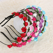 1 PC High Quality Fashion New Design Festival Headband Flower Crown Garland Floral Wedding Hairband Hair Accessories 6 Colors