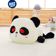 Lovely Lying down plush panda 1pcs 1# 55cm 21inch giant panda plush doll toys plush kung fu panda