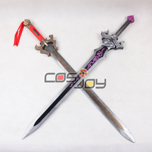 "43"" Dynasty Warriors 7 Liu Bei Double Swords PVC Replica Cosplay Props -0759"