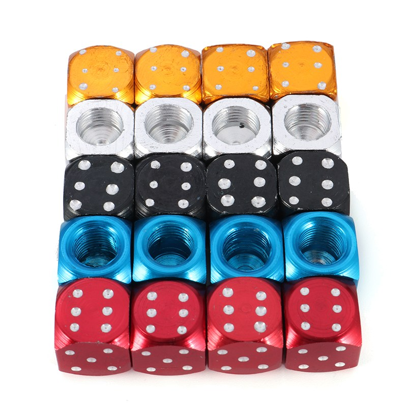 4pcs 3D Dice Shaped Car styling Tire Wheel Tire Caps Tire Valve Cap For Mercedes /BMW /AUDI for VW /Ford /Honda /Toyota 4