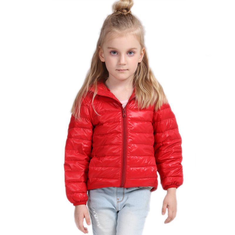 children winter jackets for girls boys 2017 new solid kids winter parka coat hooded light down slim kids down jackets for girls Одежда и ак�е��уары<br><br><br>Aliexpress