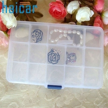 HAICAR Storage Box Case Holder Container Pills Jewelry Nail Art Tips 15 Grids Organizer U6722 DROP SHIP