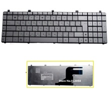 SSEA Brand New RU Keyboard for ASUS N75 N75SF N75SL N75S N75Y laptop Silver Russian Keyboard free shipping