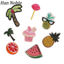 Buy Han Noble Cartoon Embroidered Patches Iron Sewing clothes Jeans Kids applique embroidery DIY Party Decor 1Set/8pcs P445 for $1.69 in AliExpress store