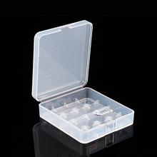 Plastic Transparent White 4 x 18650  Battery Case Holder Storage Box Container  Free Shipping 1PCS