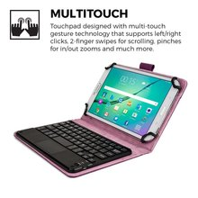For iPad Mini 1 2 3 4 Samsung Lenovo Acer ASUS HP Tablet 7 8 inch Purple PU Leather Folio Case Cover Wireless Bluetooth Keyboard(China)