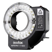 Godox Witstro AR400 400W Li-ion Battery Ring Flash Speedlitewith 2 in 1 with LED Video Light for Canon Nikon Cameras(China)
