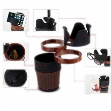 Hot selling Car Cup Cell Phone Tray holder Drinks Cup Holder Storage for Au-di Car Accessories