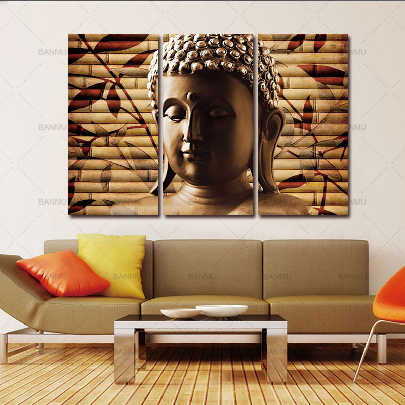 Buddha Art Canvas Painting Decor Wall Art Buddha Picture Landscape Canvas  Painting Modern Living Room Decorative