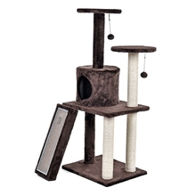 Domestic Delivery H116 Cat Toy Scratching Wood Climbing Tree Cat Scratching Post Jumping Toy Ladder Climbing Frame Cat Furniture