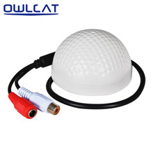OwlCat Sound Monitor 5-150 Square Meters Mini CCTV Security Surveillance Microphone CCTV Camera Audio Pickup