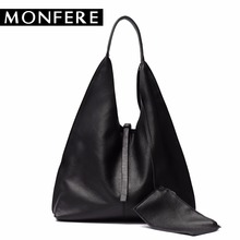 Buy MONFERE Genuine leather HOBO high tote shoulder bags women handbags bucket desigual bag female purses set bolsa feminina for $58.99 in AliExpress store