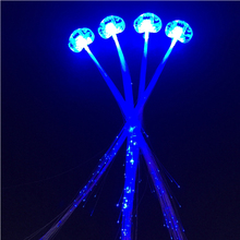 Top Fashion 10pcs LED Blue Color Flash Hair Braid Light Up Hairpin Decoration For Party Christmas Children's Show Supplies Toys(China)