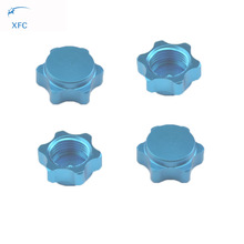 4pcs XFC 17mm Dust Proof Hex Wheel Hub Nuts Cover Cap for RC 1/8 Truck Buggy Car Tires