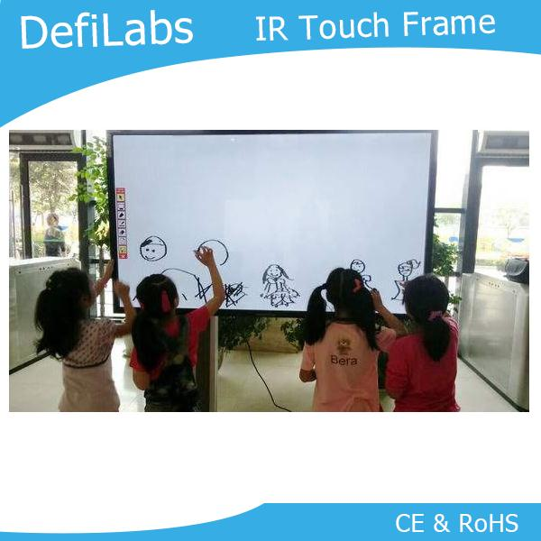 DefiLabs Best price 50 inches overlay touch frame - 10 points for advertising, interactive wall  free fast shipping