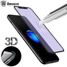 Buy Baseus 0.23MM Screen Protector Tempered Glass iPhone X 10 3D Soft Edge Full Protection Toughened Glass Film iPhone X for $4.69 in AliExpress store