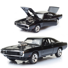 1/32 diecast cars Scale Fast & Furious 7 Alloy Dodge Charger Toy Cars Collection Gift For Boys New Year.(China)