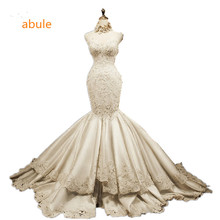 abule Wedding dress Mermaid European and American high quality Excellent designer vestido de noiva lace up Bridal Gowns custom