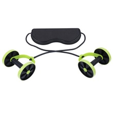 Buy Abdominal Exerciser Trainer Puller Rollers Fitness Equipment Slimming Muscle Trainer Workout Tool Resistance Bands for $20.93 in AliExpress store