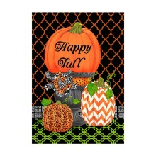 Welcome Fall  Garden Flags Pumpkin Autumn Leaves Designed  Printing With Double Sided Decorative Indoor And Outdoor Banners