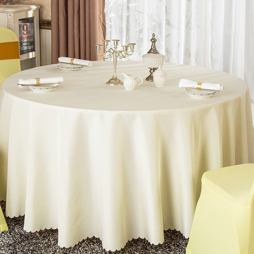 5pcs/lot Multi Size Hotel Restaurant Washable Solid Polyester Round Table Cloth Wedding Party Decorative Tablecloth 18 color(China (Mainland))