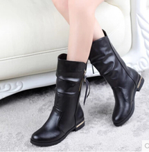 2016 autumn new low - heeled boots  women 's shoes women' s shoes winter boots ladies boots