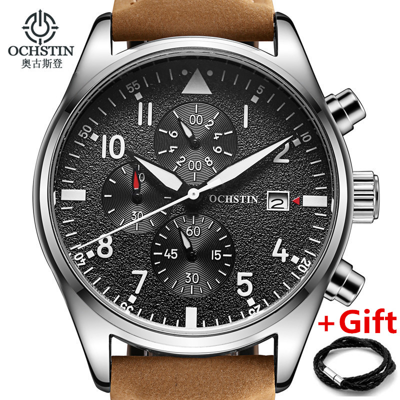 Mens Watches OCHSTIN Brand Luxury Casual Military Men Watch Quartz Sports Wristwatch Leather Male Clock watch relogio masculino<br><br>Aliexpress