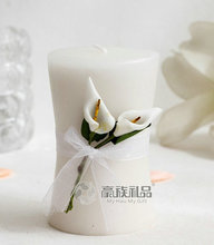 20PCS Wedding Favors Party Valentine's Gifts Bridal Shower Calla Lily Candle(China)