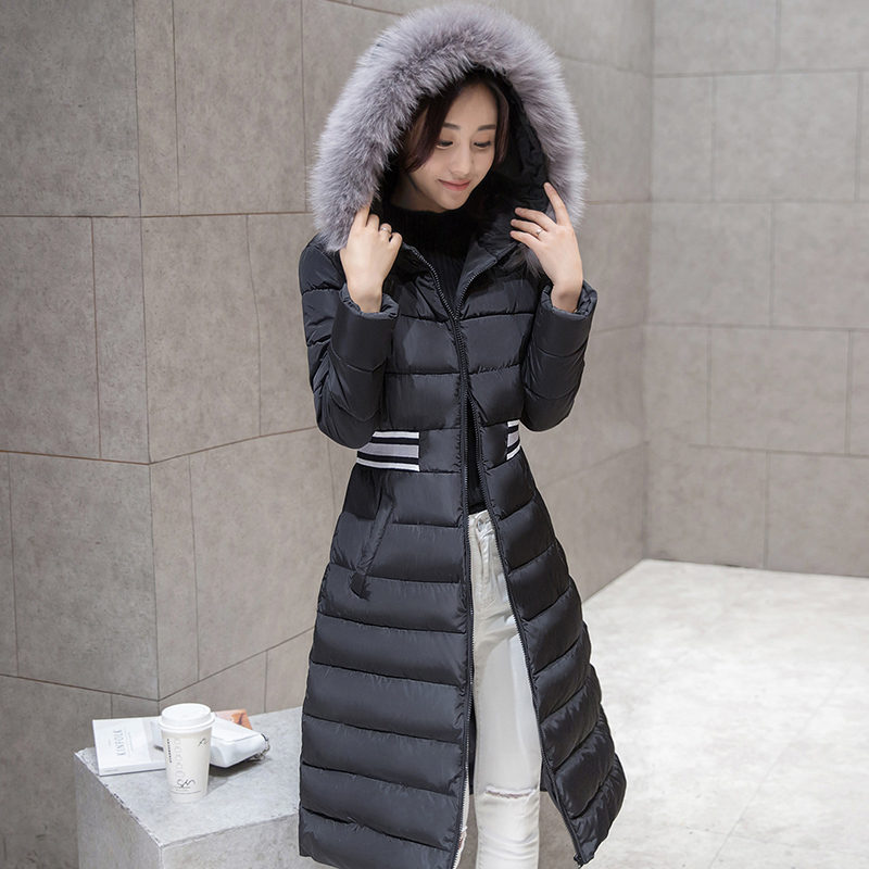 Hooded Parka For 2016 Winter Down Jacket Women Long Coat Parkas Slim Female Warm Clothes Fur Collar High Quality OvercoatОдежда и ак�е��уары<br><br><br>Aliexpress