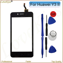 Touch Panel For Huawei Y3II Y3 II 2 LUA-L03 L21 U23 Touch Screen Sensor LCD Display Digitizer Front Outer Glass Lens Replacement(China)