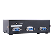 New 350Mhz 2 ports VGA splitter 1 PC to 2 Port VGA SVGA Monitor TV Video Splitter Box 1PC for 2 Monitors