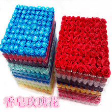 81pcs  Rose soap creative gift wedding decoration soap rose artifical flowers decorative flowers flores artificiales