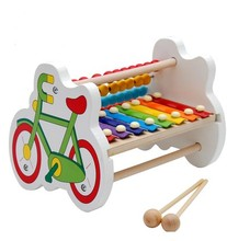 Bike cow rabbit cartoon one pcs intelligence maths bead piano music toy