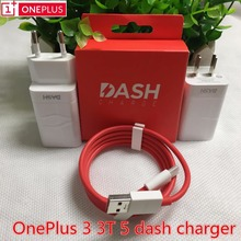 Original Oneplus 3t Dash Charger Oneplus 3 5 charger adapter USB wall fast charger&Type C dash cable One plus 3 3t 5 charger