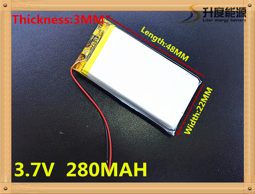 Best price 3.7v 280mAh rechargeable lithium ion battery 302248 with pcb and wire<br><br>Aliexpress