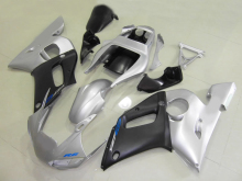 Custom Motorcycle Fairing kit for YZFR6 98 99 00 01 02 YZF R6 1998 2000 2002 YZF600 TOP Silver black Fairings set+7gifts YD11