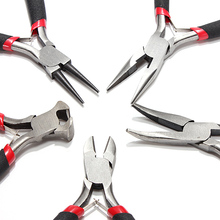 5pcs/set Jewelers Jewel Pliers Set Tools Beading Making Side Cutters Long Bent Nose High Quality