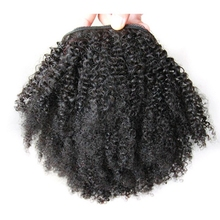 Afro Kinky Curly Ponytail Natural Hair Clip In Extension Black Color 10-18 inches Pony Tail Piece For Black Women Free Shipping