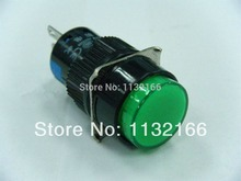 16mm Hole Color Green DPDT 2NO 2NC Contact 6 Pin Momentary Push Button Switch 5A 250VAC
