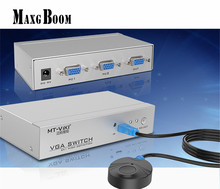MT-VIKI Maituo 2 Port Remote Controlled VGA Switch 350MHz High Resolution 2 Computer Share 1 Widescreen monitor MT-15-2DH